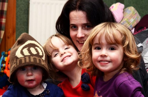 Amy and her 3 under 3