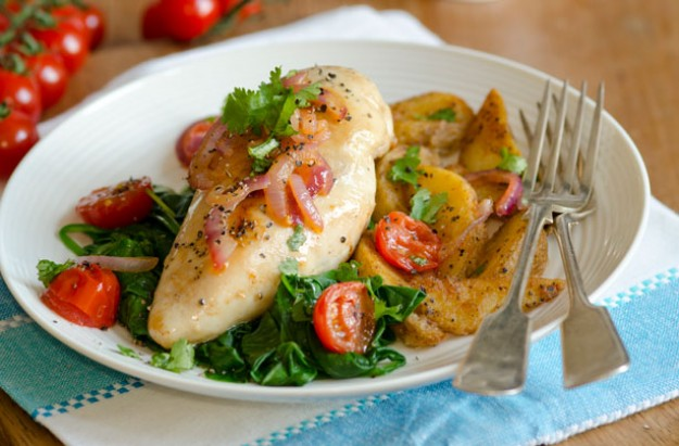 Garlic spinach chicken