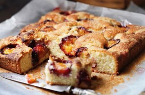 Plum and coconut cake