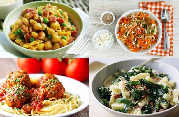 Top pasta recipes for February 2013