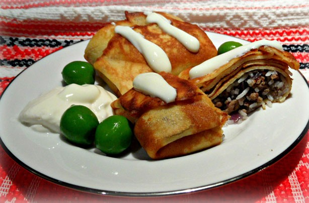 Savoury pancake pies