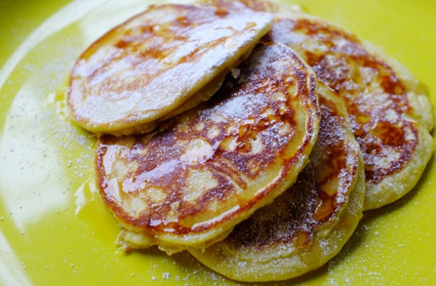 Maple drop pancakes