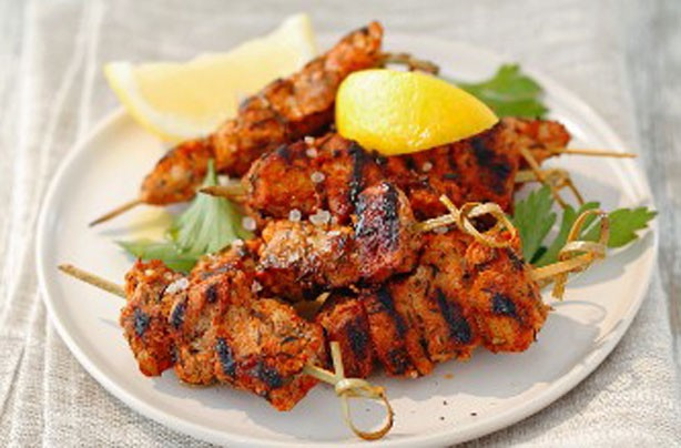 Smoky paprika pork kebabs