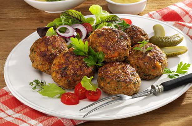 Spicy meatballs with potato salad recipe - goodtoknow