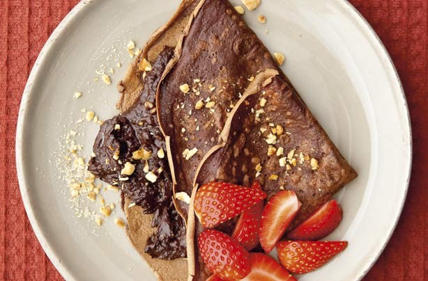 You'll flip over these irresistible, sweet, chocolate and nutty pancakes. You can rustle iti up in no time.