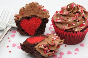 Hidden heart cupcakes