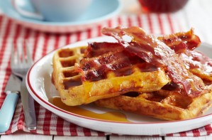 Bacon waffles
