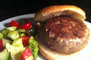 Beef and Parmesan burgers