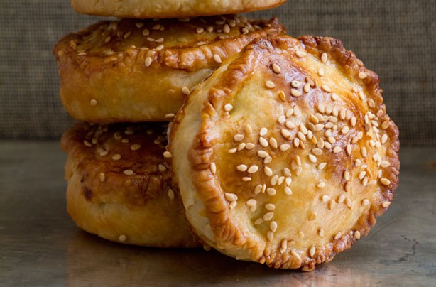 Hand-raised sesame pork pies