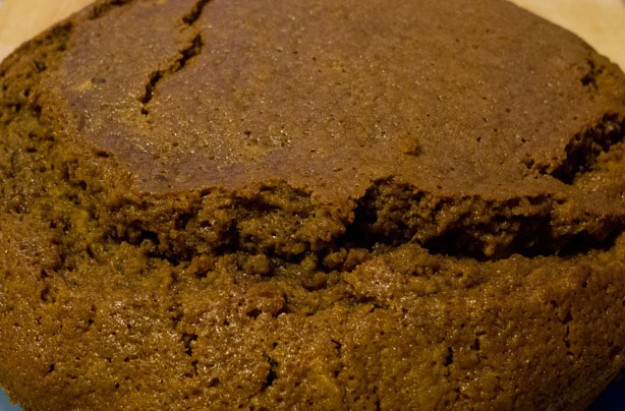 Sticky ginger cake with walnuts