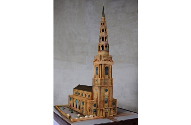 St. Bride's Church cake model