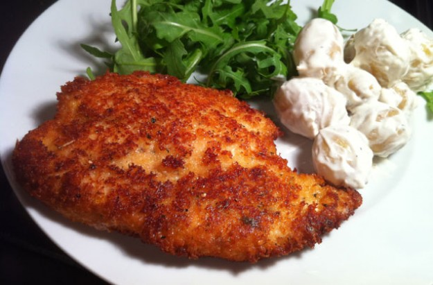 Grana Padano breadcrumbed chicken breast