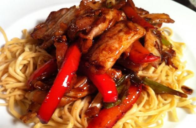 Pork red pepper recipe