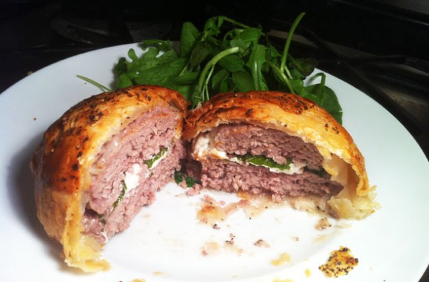 Lamb burger Wellington