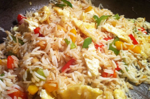 Pepper and egg fried rice