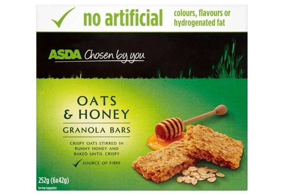 Asda Chosen by You Oats and Honey bars
