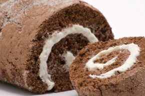 Mint chocolate Swiss roll