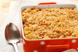 Crunchy topped fish bake