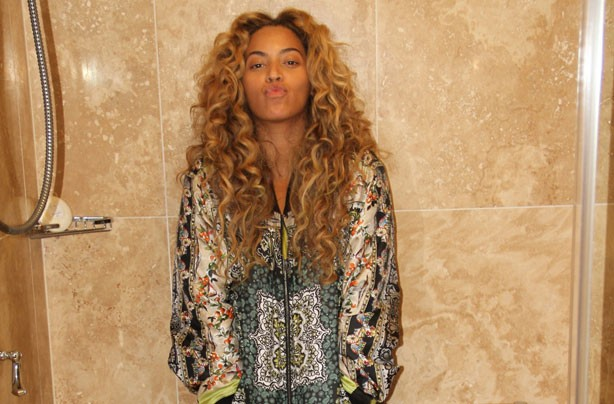 Beyonce with no make up 2013