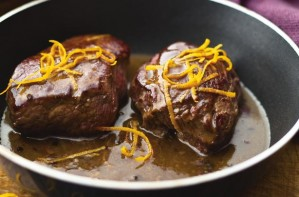 Venison steaks in Marsala