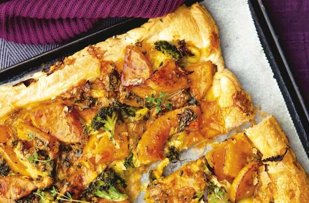Squash and cheese tart