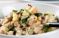 Courgette risotto