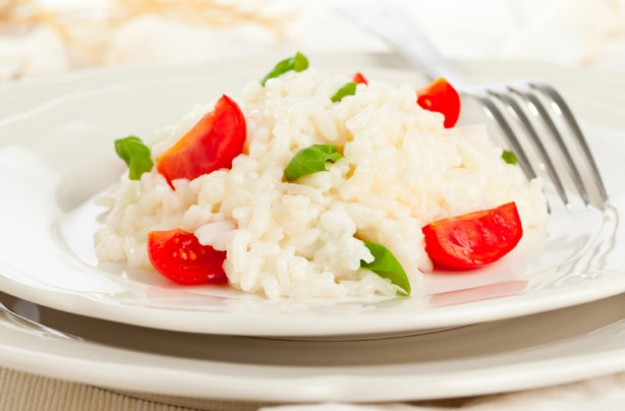 Tomato Parmesan and basil risotto