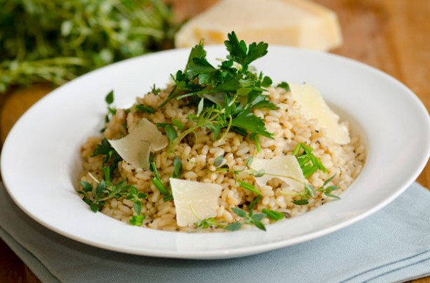 Herby risotto