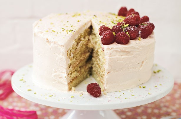 Stacie Stewart's raspberry, rose and vanilla cake