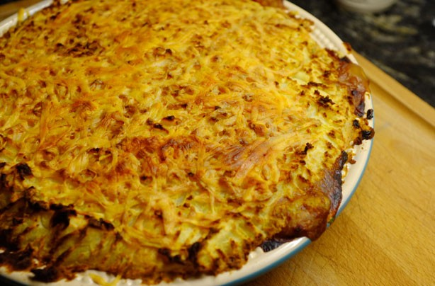 Cheesy lentil cottage pie