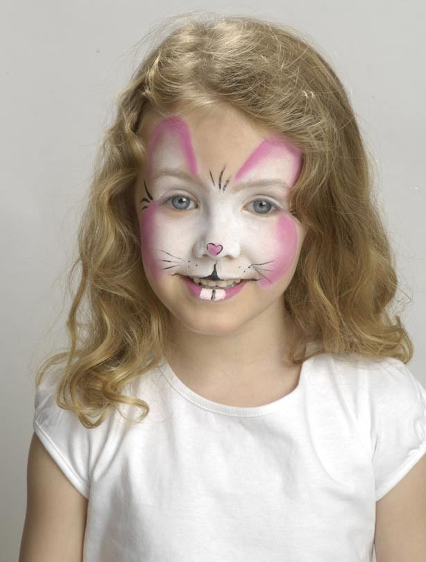 Easter bunny face paint Rabbit face paint for the teeth