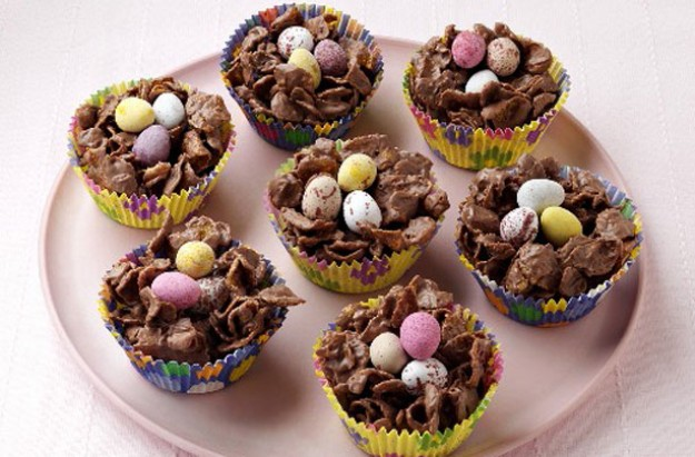 Chocolate cornflake nests