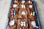 Easter egg brownies | Easter egg recipes