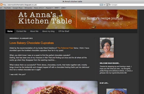 At Anna's kitchen table blog