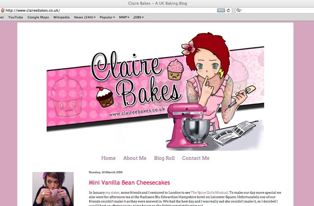 Claire Bakes blog