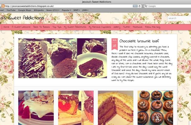 Jessica's sweet addictions blog