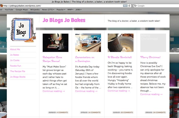Jo Blogs Jo Bakes blog