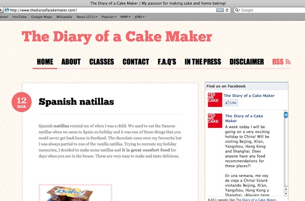 The diary of a cake maker blog