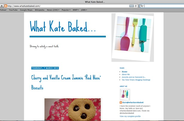 What Kate Baked blog