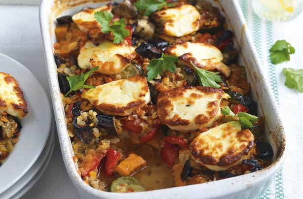 Turkish halloumi bake recipe - goodtoknow