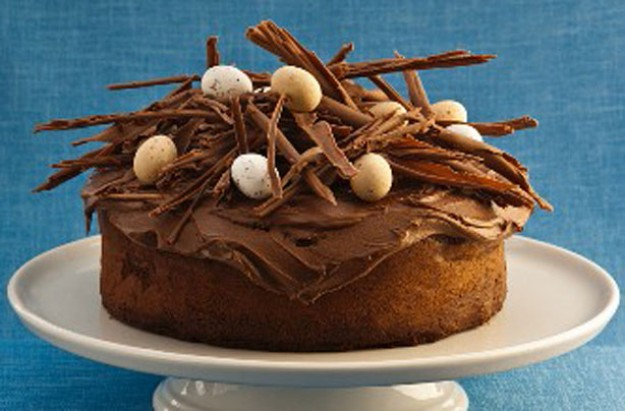 Chocolate orange Easter cake