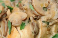 Chicken in mushroom and tarragon sauce