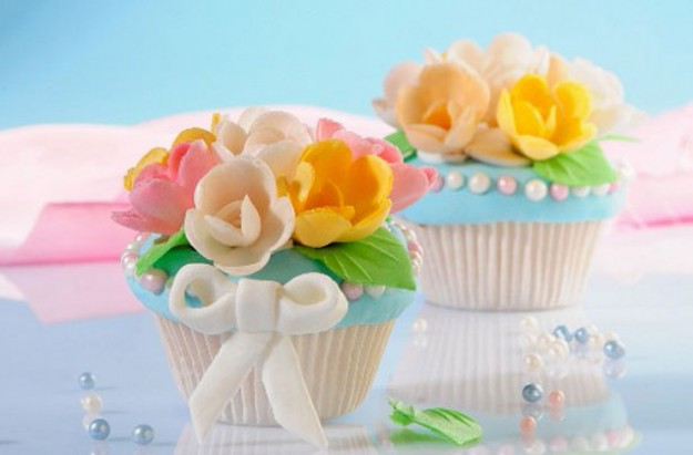 Bouquet of flowers cupcakes