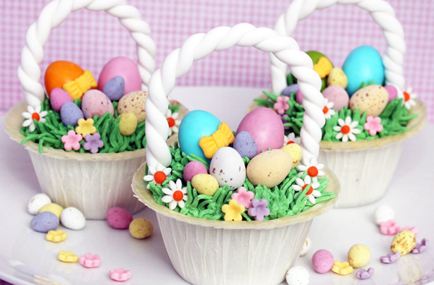 Easter basket cupcakes recipe goodtoknow negle Images