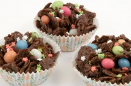 Chocolate cornflake cakes