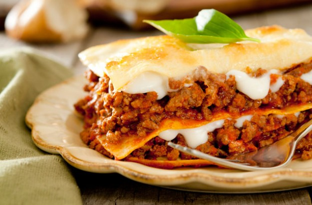 Italian three cheese lasagne