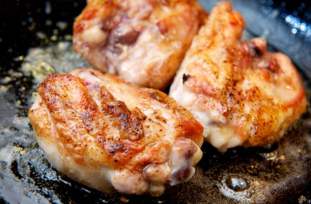 Roast chicken thighs with lemon and garlic and tarragon