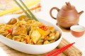 Noodles with pineapple and chicken