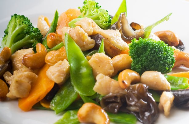 Stir-fry pork with vegetables