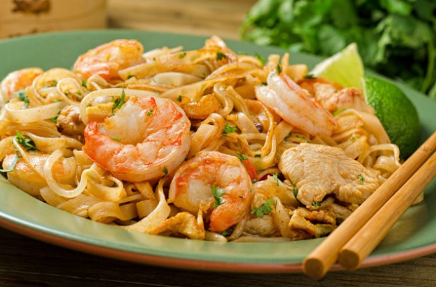 Thai prawn stir-fry